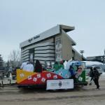 End of the Parade route at Mosaic Stadium / Fin de la Parade au Stade Mosaic
